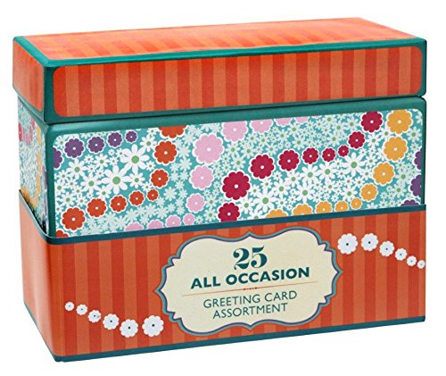 Paper Magic Handmade and Embellished All Occasion Greeting Cards with Orange Keepsake Box, 25pc]()