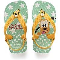 Havaianas Sandálias New Baby Disney Classic, Branco/Amarelo Banana, 22 Bra