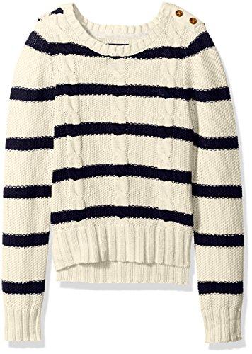 Nautica Striped Stitch Sweater Detail