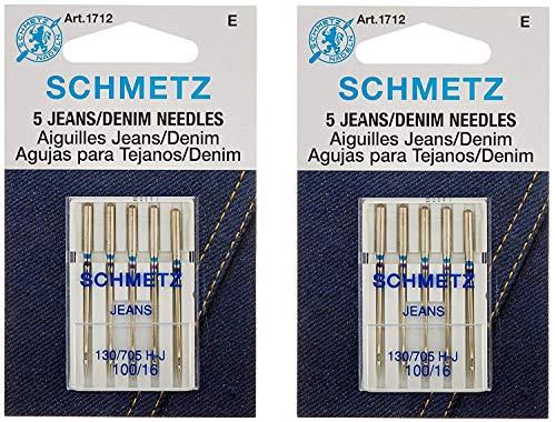 (Jean & Denim Machine Needles-Size 16/100 5/Pkg (2 Pack))