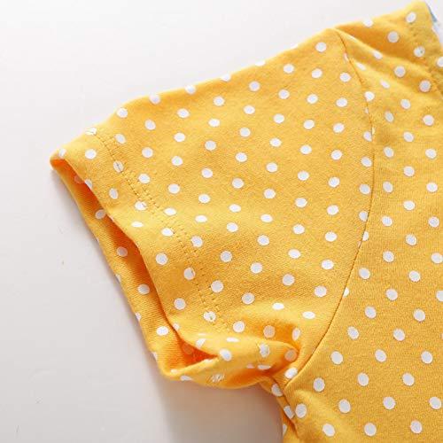 Unicorn Dress Summer Animal Cotton Jersey Baby Girls Casual Dresses 2-7Years