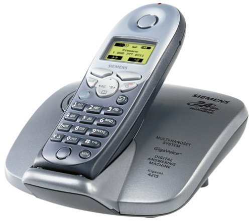 Siemens 4215 Gigaset 2.4 GHz DSS Expandable Cordless Phone (Silver and