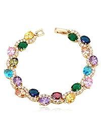 U7 Women Jewelry AAA Cubic Zirconia Bracelets Bangles 18K Gold/ Platinum Plated Classic CZ Tennis Bracelet