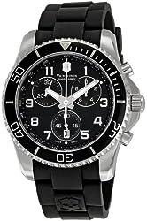 Victorinox Swiss Army Men's 241431 Maverick Black Dial Stainless Steel Watch