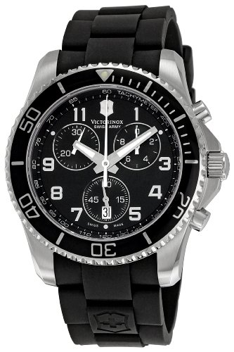 Victorinox Swiss Army Men's 241431 Maverick Black Dial Stainless Steel Watch