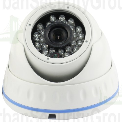 USG HD-SDI 1080P Dome Security Camera: 1/2.8' Sony 2.4 Megapixels, 1920 x 1080 @ 30fps, 3.6mm Wide Angle Lens, IP66 Weatherproof Vandalproof, 24x IR LEDs For Nighttime Protection, Ideal For Home & Business Video Surveillance!