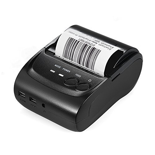 KKmoon POS-5802DD Mini Portable Wireless USB Thermal Printer Receipt Ticket POS Printing for iOS Android Windows by KKmoon