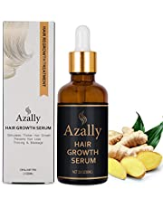 Hair Growth Serum by AZALLY - Best Treatment for Hair Thinning - Hair Loss Prevention Treatment For Men & Women With Thinning Hair