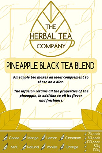 Prickly Pear Pineapple Black Tea Blend Tea Bags With Natural Flavour 25 Pack