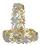 MUCHMORE Traditional Indian Bollywood Ethnic Style Diamontic Bangle For Women's Partywear Jewellery (2.4)