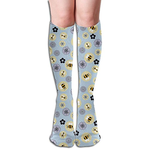 LAUR Tube Knee High Socks 50CM Bumblebee Repeat Men's Over-the-Calf Tube Sports Socks Extra Long Compression Stocking