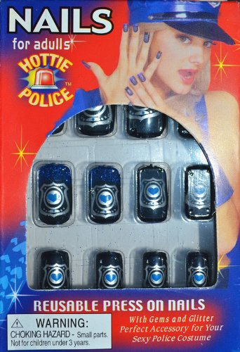 Uñas postizas decoradas con color Mujer policía: Amazon.es: Juguetes y juegos