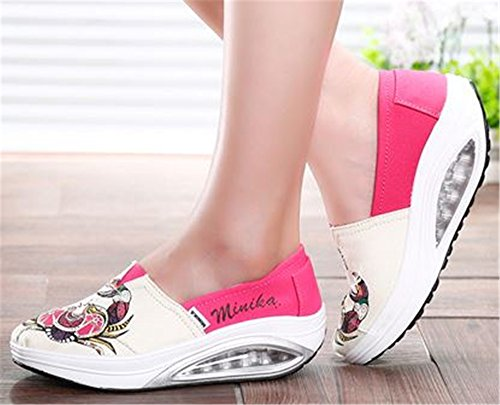 Beige Stylish Height Casual Flats Luxury Swing Shoes Wedges Shoes Shoes Increasing Women Slimming Platform FHTRxOnq