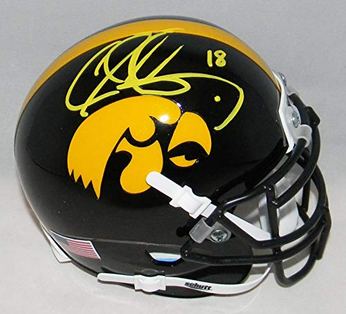 - Chad Greenway Autographed Signed Iowa Hawkeyes Mini Helmet Coa - Autographed College Mini Helmets