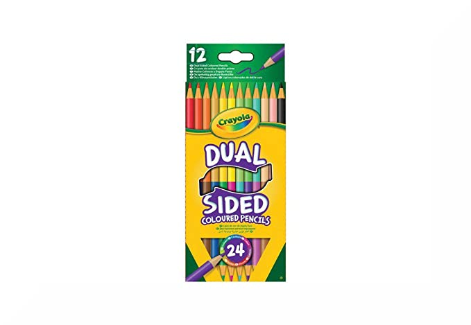Crayola Twistable Coloured Pencils Hang Pack 10s /& Inspirational Magnet