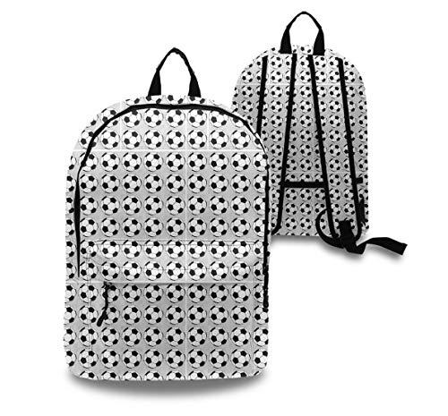 (YongColer Soccer Prints Backpck, Big Capacity Bookbag Traveling & Camping Backpack, School Daypack Backpack Gym Outdoor Hiking Bag Laptop Backpack Daypack)
