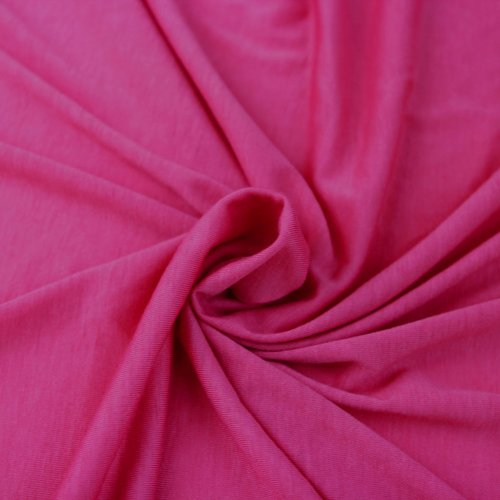Hot Pink Poly Rayon Spandex Stretch Jersey Knit Fabric By the Yard - 1 Yard