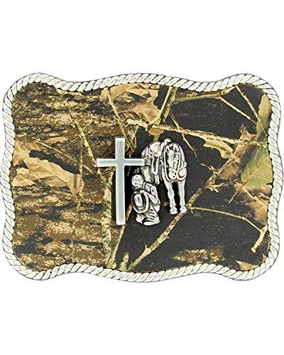 Camouflage Buckle (Nocona Men's Camo Cowboy Prayer Belt Buckle Camouflage One)