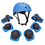 Kids-Youth-Sports-Protective-Gear-Set-with-Helmet-Elbow-Knee-Wrist-Safety-Pad-Safeguard-for-Rollerblading-Bicycle-BMX-Bike-Skateboard-Hoverboard-Outdoor-Activities