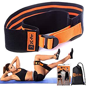 """Adjustable Booty Band - 1 Size Does Fit All 12""""-17"""" Squat Fabric Hip Resistance Circle Bands - Patent Pending Innovation"""