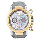Mulco La Fleur Ave del Paraiso Swiss Chronograph Quartz Movement Women's Watch | Mother of Pearl and Swarovski Sundial Rose Gold Accents | Taupe Watch Band | Water Resistant MW3-14009-223