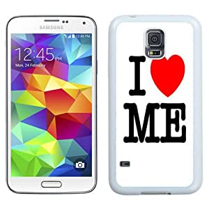 NEW Fashion Custom Designed Cover Case For Samsung Galaxy S5 I9600 G900a G900v G900p G900t G900w I Love Me White Phone Case