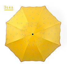 KHSKX-The Shading Umbrella Black Rubber Anti Uv Umbrella Anti Wave Edge Folding Umbrella Three Sai
