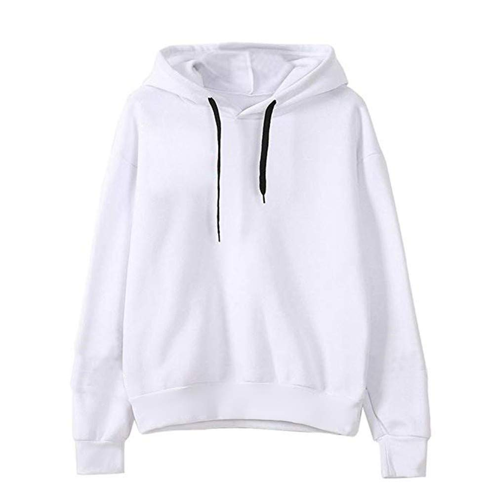 Amazon.com: Ladies Sweatshirts Casual Womens Solid Hoodie Tops Long Sleeve Hooded Pullover: Sports & Outdoors