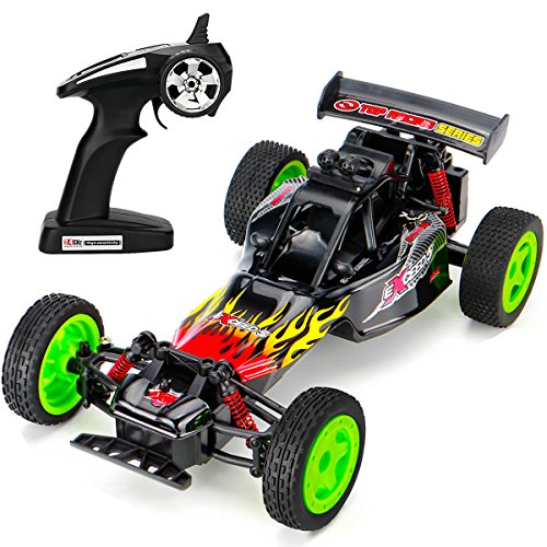 Karting Scale - SUBOTECH Electric RC Car 1:16 Scale 2.4GHz Off Road Vehicle Remote Control Car Off Road Karting RC Car High Speed Racing 2.4GHz 50M Fast Rock Off Road Car with Light