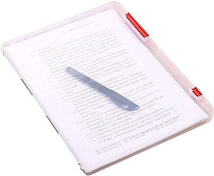 Lomsarsh Caja de almacenamiento de archivos transparente, Caja de almacenamiento de archivos A4 Caja de relleno de papel para documentos de plástico transparente Archivo para uso en portapapeles de u: Amazon.es: Oficina