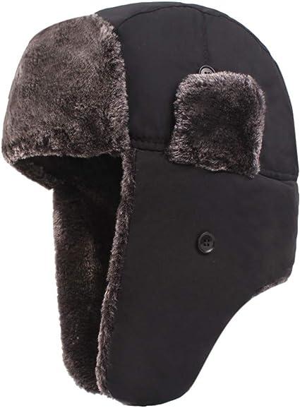 Earmuffs Baseball Hat Winter Warm Ski Cap For Men Outdoor Sports Windproof Solid