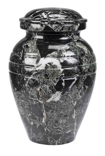 Black Marble Cremation Urn by Alterna Cremation Options