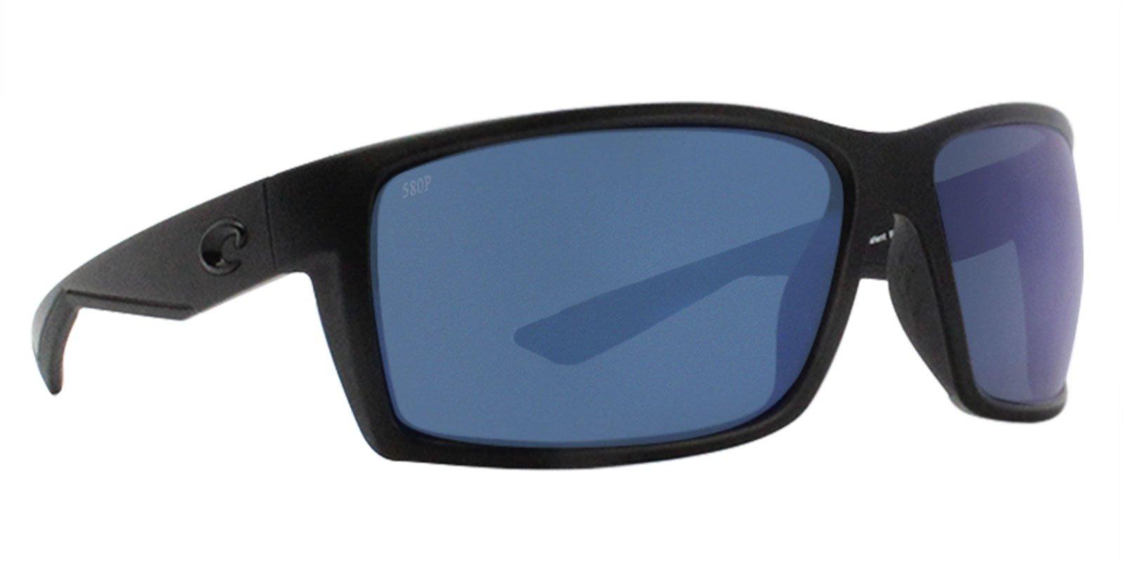 Costa Del Mar Reefton Sunglasses Blackout / Blue Mirror 580Plastic by Costa Del Mar