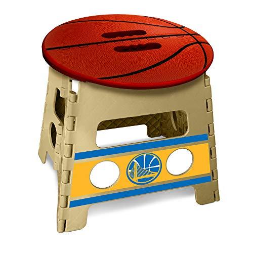 FANMATS Folding Step Stool NBA-Taburete Plegable Golden State Warriors 35,56 cm x 13, marron, Talla unica