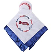 Boston Red Sox Blue Baby Fanatic Security Bear Blanket - 14  x 14  MLB Infant Gift set