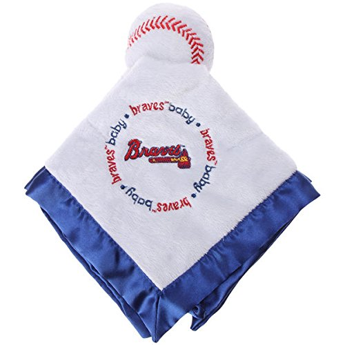 Atlanta Braves Blue Baby Security Snuggle Bear Blanket - 14