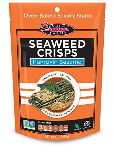 Pumpkin Sesame Sea Salt Seaweed Crisps - Seapoint Farms (1.2 oz Packs of 12)