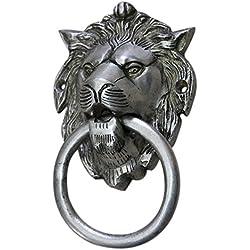 IndianShelf Handmade Silver Lion Brass Door Knocker-1 Piece(MDK-41)