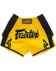 Fairtex New Muay Thai Boxing Shorts Slim Cut - Red, Orange, Blue, Yellow, S, M, L, XL