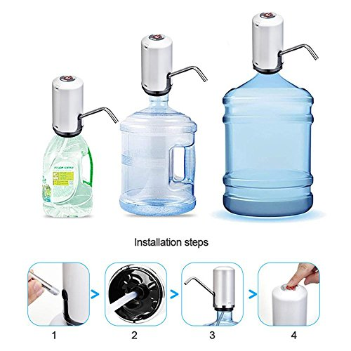 Layopo Electric Drinking Water Pump, USB Charging Universal Gallon Bottle Water Pump by Layopo (Image #3)
