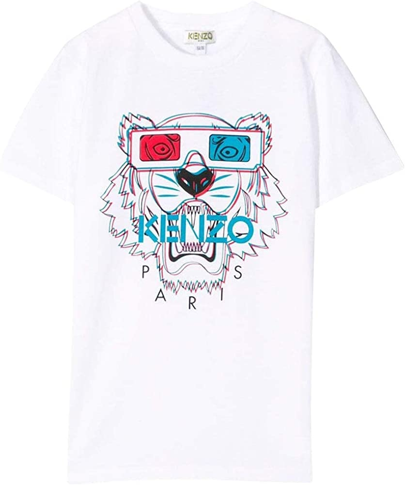 Kenzo niños 3D Tigre impresión Camiseta Blanca White 14 Years ...