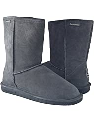 BEARPAW Womens Emma Short Shearling Boots 608-W Charcoal