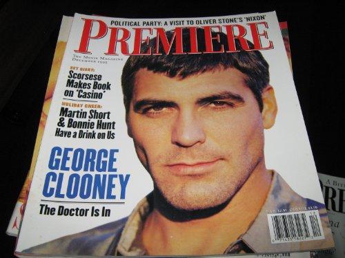 Premiere Magazine (George Clooney , Scorsese...Casino , Martin Short & Bonnie Hunt, December 1995)