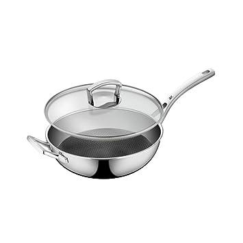 8haowenju Sartén, sartén de Acero Inoxidable estándar para Cocina ...