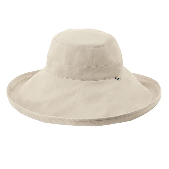 4c282ac83a Solumbra Ultra-Wide Rolled Brim Hat - 100+ SPF Sun Protective at Amazon  Women's Clothing store: Sun Hats