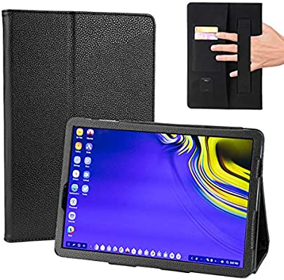 COCASES Case Compatible with Samsung Galaxy Tab S4 Tablet SM-T830/T835/T837  2018 Release, PU Leather Auto Wake/Sleep Stand Hand Strap Card Slot
