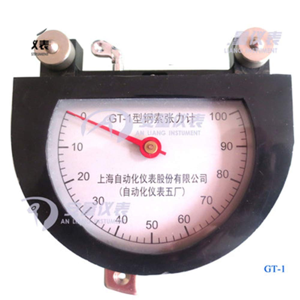 LANTAO Steel Cable Tension Meter Dynamometer Aircraft Rope Tension Meter with 0-100 Indicating Reading Range (150kg)