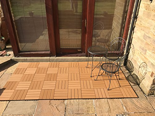 Composito piastrelle teak click deck terrazza balcone