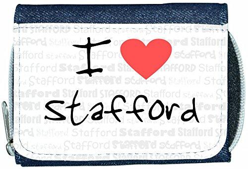 I Love Heart Stafford Denim Wallet