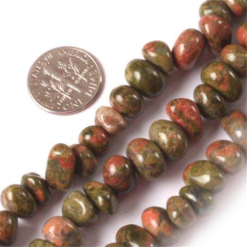 GEM-inside Unakite Gemstone Loose Beads Natural Energy Power Beads For Jewelry Making Potato Shape 8-10X12-14mm 15